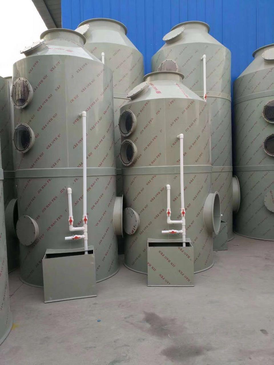 解說水噴淋(lin)廢氣淨化塔的工作原理